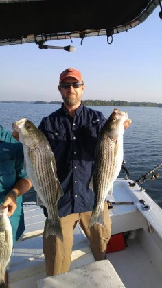 nice double striped bass in SC